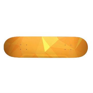 LoveGeo Abstract Geometric Design - Gold Velvet Skateboard