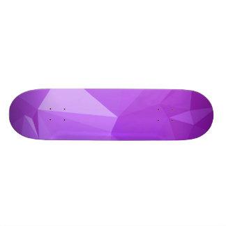 LoveGeo Abstract Geometric Design - Grape Score Skateboard Deck