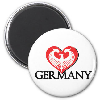LoveGermany 2 Inch Round Magnet