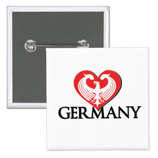 LoveGermany 2 Inch Square Button