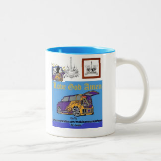 LoveGodAmen cool Two-Tone Coffee Mug