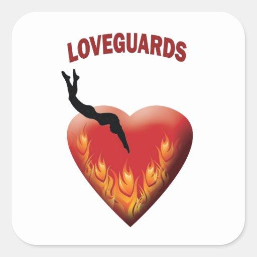 Loveguards Pegatina Cuadrada