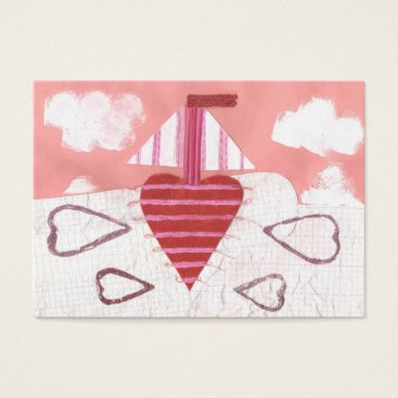 Professional Business Loveheart Boat Business Cards