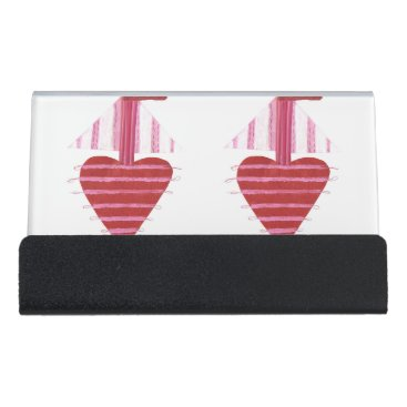 Professional Business Loveheart Boat Desk Business Card Holder