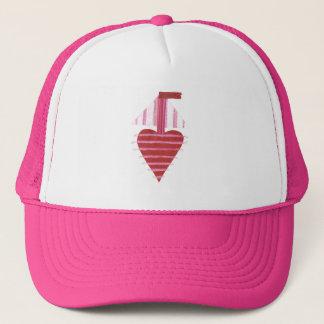 Loveheart Boat No Background Baseball Cap