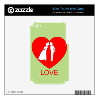 LoveHeart iPod Touch 4G Skins