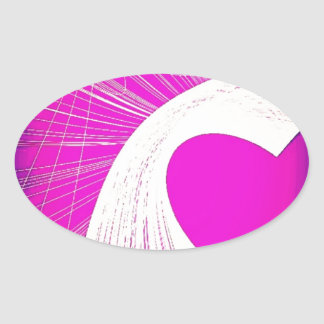 loveheart oval sticker