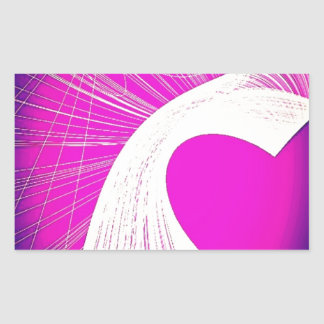 loveheart rectangular sticker