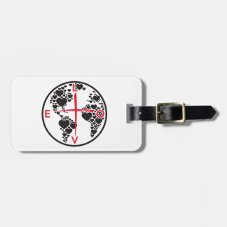 LoveHearts316 - white background Luggage Tag