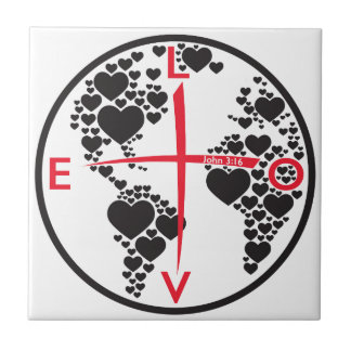 LoveHearts316 - white background Tile