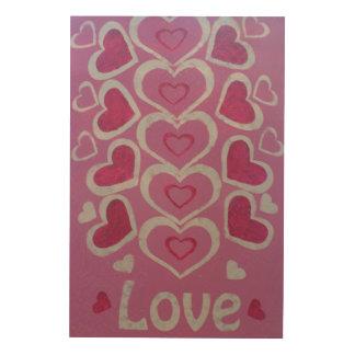 Lovehearts 24 Inch x 36 Inch Wood Wall Art