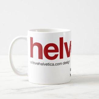 LoveHelvetica Maroon Mug mug