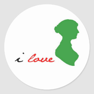 LoveJaneAusten Classic Round Sticker