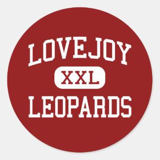 Lovejoy - leopardos - High School secundaria - Pegatina Redonda