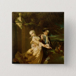 Lovelace Abducting Clarissa Harlowe, 1867 Button