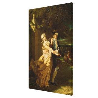 Lovelace Abducting Clarissa Harlowe, 1867 Canvas Print