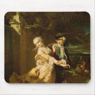 Lovelace Abducting Clarissa Harlowe, 1867 Mousepad