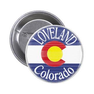 Loveland Colorado circle flag Pin
