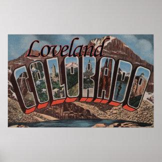 Loveland Colorado - escenas grandes de la letra Posters