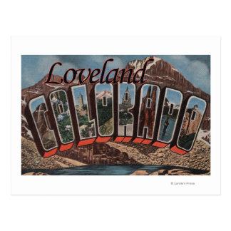 Loveland, Colorado - escenas grandes de la letra Tarjeta Postal