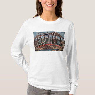 Loveland, Colorado - Large Letter Scenes T-Shirt