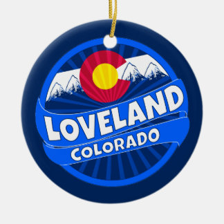 Loveland Colorado mountain burst ornament