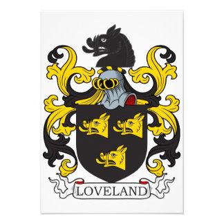 Loveland Family Crest Custom Invitations