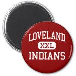 Loveland - indios - alto - Loveland Colorado Imán De Frigorífico