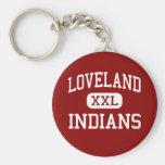 Loveland - indios - alto - Loveland Colorado Llavero Personalizado