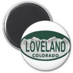 Loveland license oval 2 inch round magnet