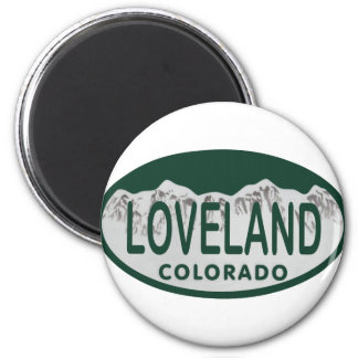 Loveland license oval magnet