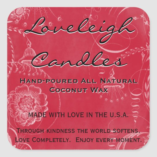 Loveleigh Custom Product Labels Holiday Red White
