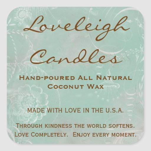 Loveleigh Custom Product Labels with Vintage Toile Square Sticker