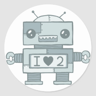 Loveless Robot Classic Round Sticker