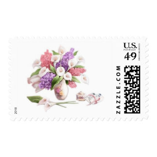 LoveLetters & Lilacs Postage Stamp