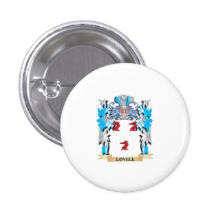Lovell Coat of Arms - Family Crest 1 Inch Round Button