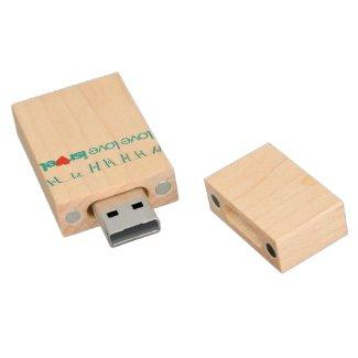 LoveLoveIsrael USB Disk-on Memory Key Wood USB 2.0 Flash Drive