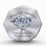 Lovely 60th Wedding Anniversary Gifts PERSONALIZED Award