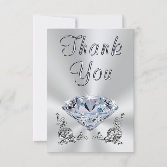 Lovely 60th Wedding Anniversary Thank You Cards Zazzle Com