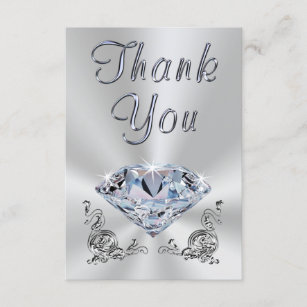 Lovely 60th Wedding Anniversary Thank You Cards