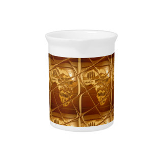 Lovely Africa Africa Maps designs Golden colors.pn Beverage Pitchers