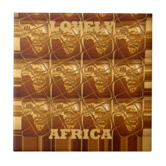 Lovely Africa Africa Maps designs Golden colors.pn Ceramic Tile