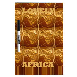 Lovely Africa Africa Maps designs Golden colors.pn Dry-Erase Board