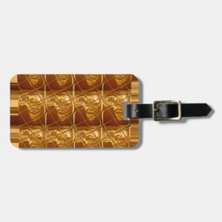 Lovely Africa Africa Maps designs Golden colors.pn Luggage Tag