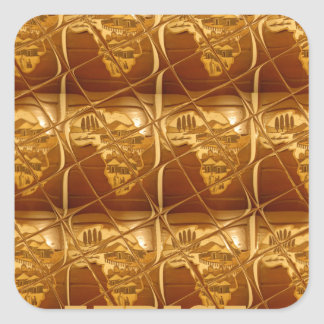 Lovely Africa Africa Maps designs Golden colors.pn Square Sticker