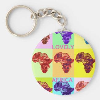 LOVELY AFRICA BASIC ROUND BUTTON KEYCHAIN
