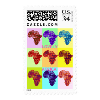 Lovely Africa Hakuna Matata Colors Postage