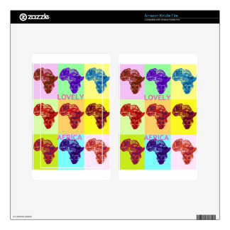LOVELY AFRICA KINDLE FIRE SKINS
