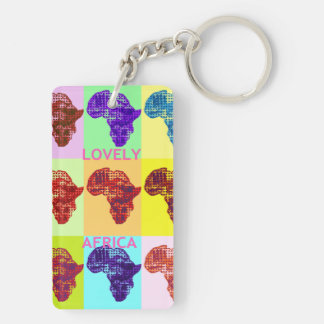 Lovely Africa Map colorful design key chain