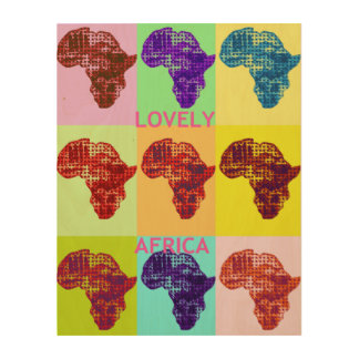 Lovely Africa Wood Wall Art